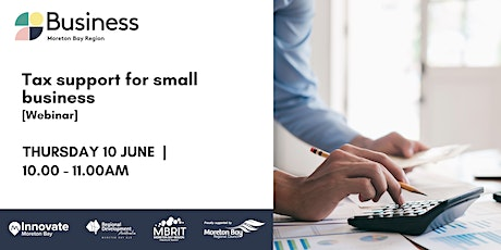 Tax support for small business [webinar] tickets