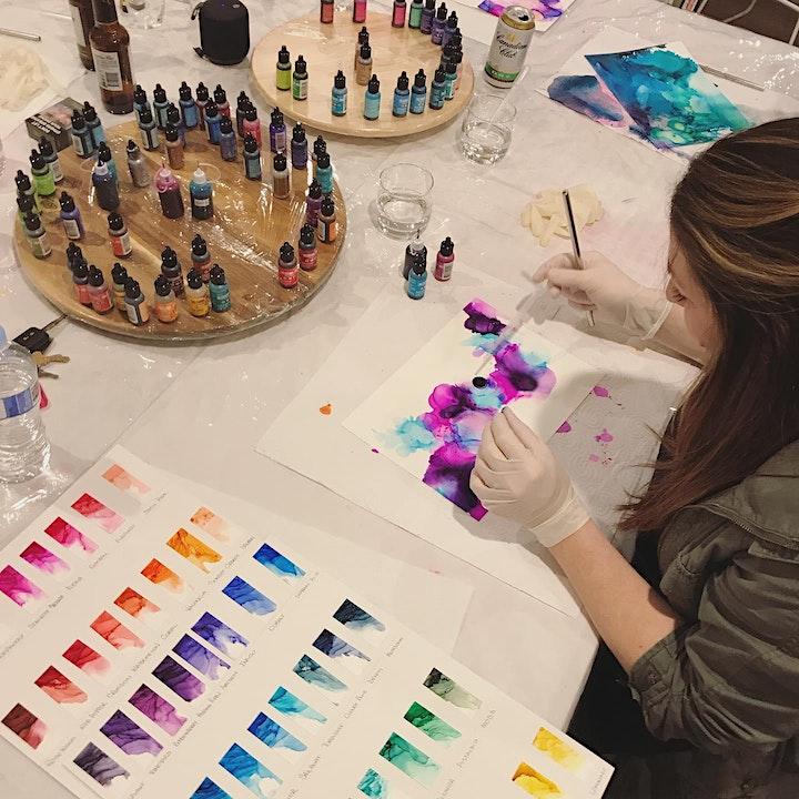 Twilight Workshops On Q- Alcohol Ink Design Workshop image