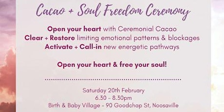 Cacao & Soul Freedom Ceremony tickets
