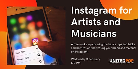 Instagram for Artists and Musicians - Free Workshop tickets