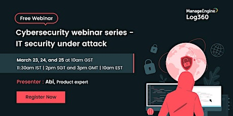 Cybersecurity webinar series - IT security under attack tickets
