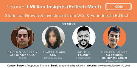 7 Stories I Million Insights (SLP India EdTech Meet) ingressos
