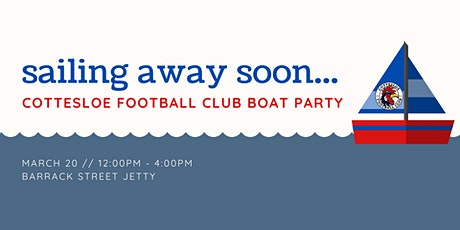 Cottesloe Football Club Boat Party tickets