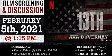"""Ava DuVernay's """"13th"""" Film Screening and Discussion tickets"""