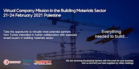 Building Materials Virtual B2B Meetings for Israeli Buyers tickets