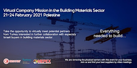 Building Materials Virtual B2B Meetings for Palestinian Buyers tickets
