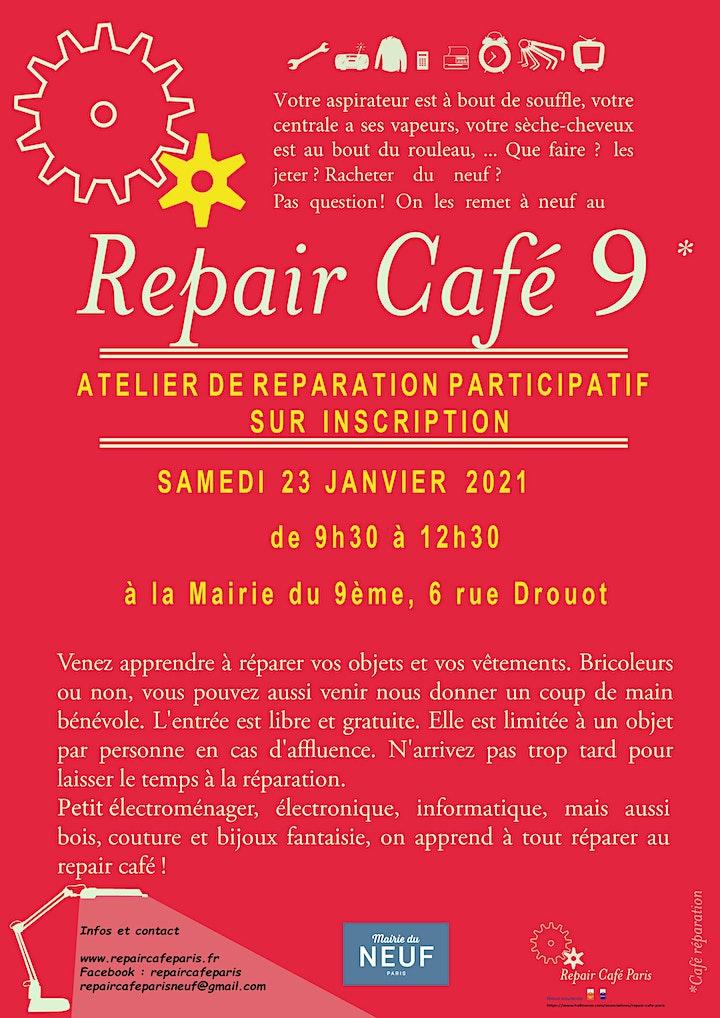 Image pour Repair Café 9 - Samedi 23 janvier