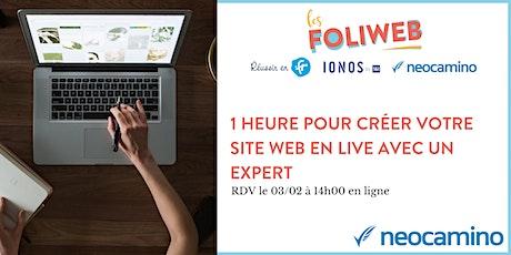 1 heure pour créer votre site web en live avec un expert billets
