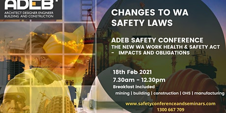 Changes to WA Safety Law - WA WHS Act 2020- Impacts and obligations tickets