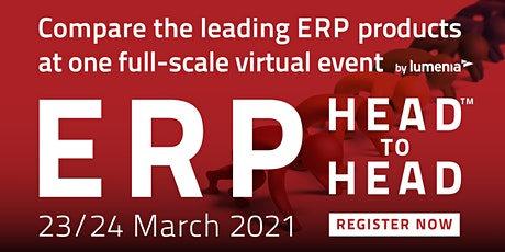 ERP HEADtoHEAD™ Virtual Event 2021 - Compare the leading ERP solutions tickets