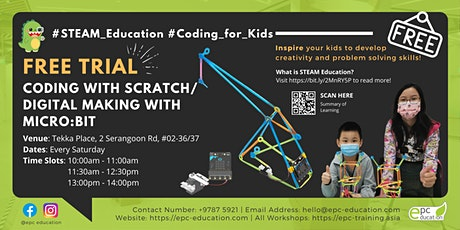FREE Trial Coding/Making Class | STEAM Education [Ages 6-16]@Tekka Place tickets