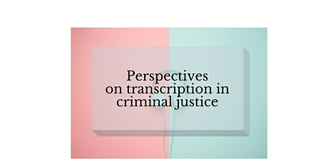 Perspectives on transcription in criminal justice tickets