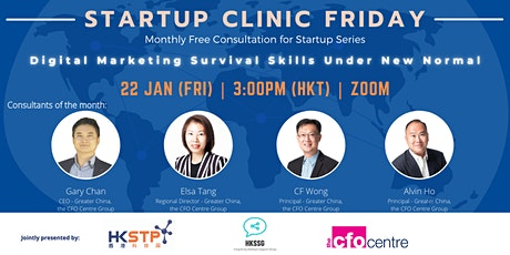 Startup Clinic Friday - Digital Marketing Survival Skills under New Normal tickets