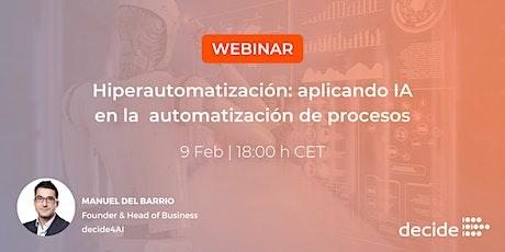 Webinar | Hiperautomatización: aplicando IA a la automatización de procesos boletos
