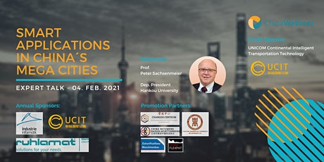 """Expert Talk """"Smart applications in China´s mega cities """" tickets"""