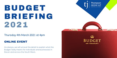 Thompson Jenner LLP Budget Briefing tickets