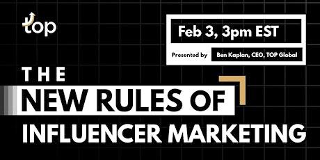 Brisbane Webinar-The New Rules of Influencer Marketing tickets