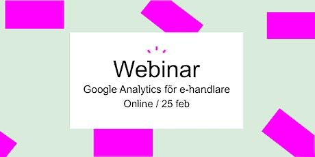 Google Analytics för e-handlare biljetter