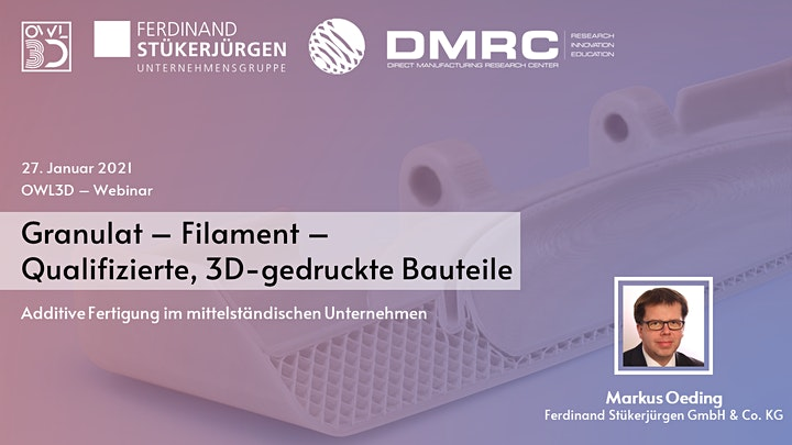 Granulat - Filament // Fertigung mit Standardgranulaten: Bild