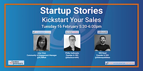 Startup Stories: Kickstart Your Sales - The Accelerator Network & CFE tickets