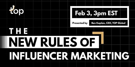 Singapore Webinar-The New Rules of Influencer Marketing tickets