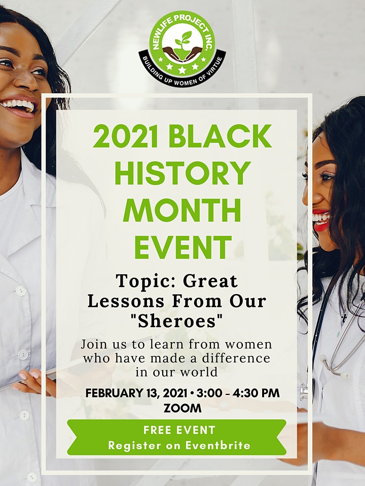 Black History Month Event: Great Lessons From Our Sheros image