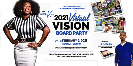 """2021 Virtual Vision Board Party - Vision is """"What Matters"""" with Mrs V. tickets"""