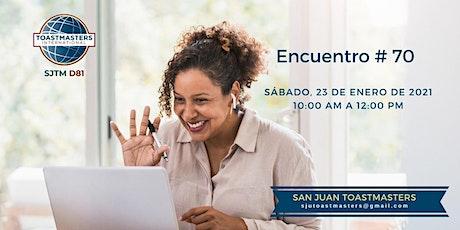 Encuentro virtual San Juan Toastmasters tickets