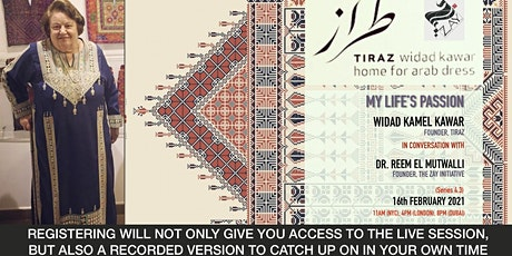 4.3 DIALOGUES ON THE ART OF ARAB FASHION: MY LIFE'S PASSION tickets