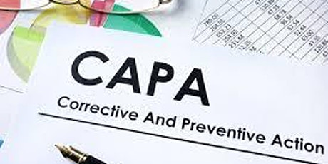 Webinar Dealing with CAPA- Corrective and Preventive Actions in FDA tickets