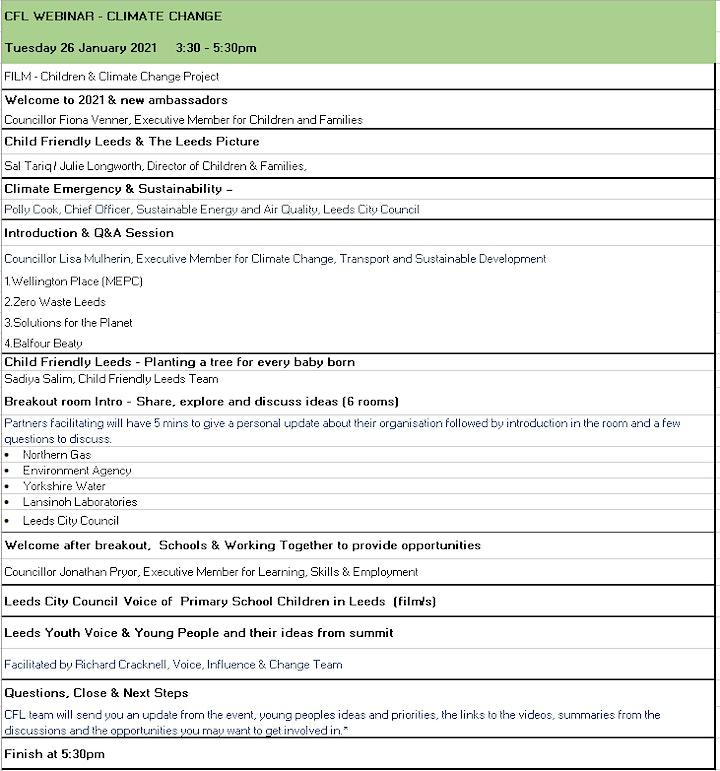 Working together to tackle Climate Change   CFL Ambassador Webinar image