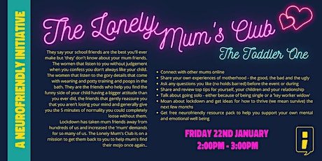 The Lonely Mum's Club - Toddler Event tickets
