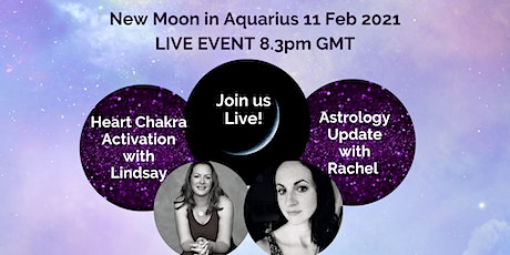 New Moon in Aquarius Astrology & Guided Heart Chakra Activation  tickets
