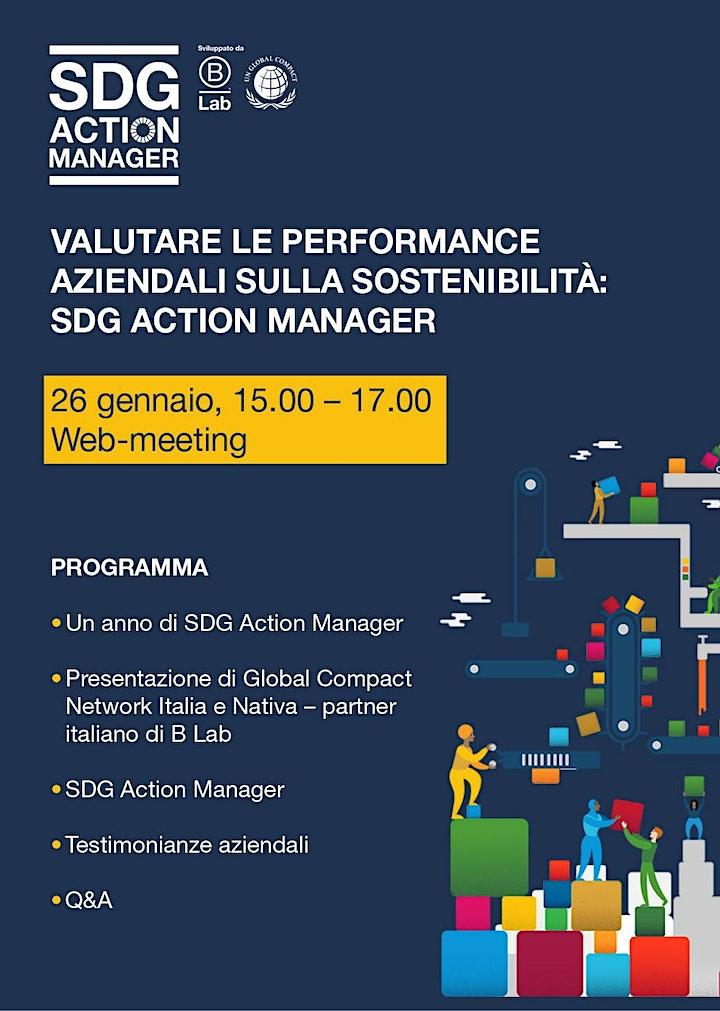 Immagine Valutare le performance aziendali sulla sostenibilità: SDG ACTION MANAGER