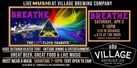 BREATHE - The Pink Floyd Tribute @Village Brewing Company! tickets