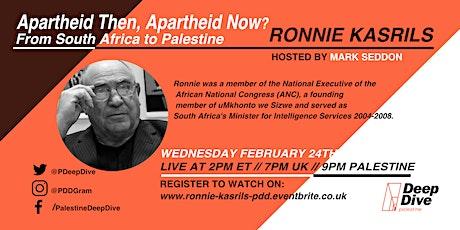 Apatheid Then, Apartheid Now? with Ronnie Kasrils tickets