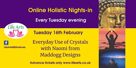 Holistic Nights-in - How to use crystals: day to day uses tickets