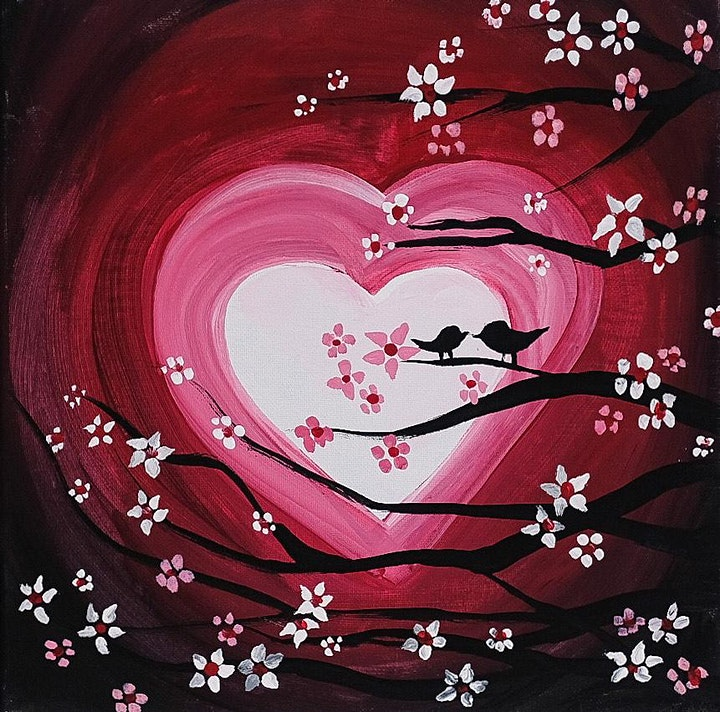 Valentines Virtual Paint Party image