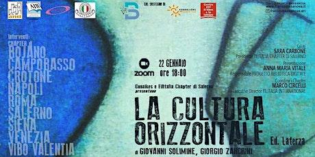La Cultura Orizzontale - presentazione del libro di Giovanni Solimine biglietti