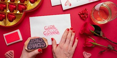 Block Printed Valentine Cards tickets