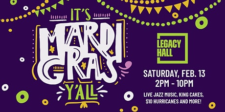 Mardi Gras at Legacy Hall tickets