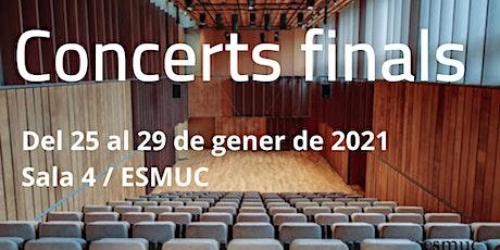 Concert final ESMUC. Marina Soler Sannicolás. Viola. Dilluns 25 gen. 09.30h entradas