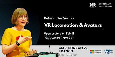 Behind the Scenes at Microsoft Research: VR Locomotion & Avatars tickets