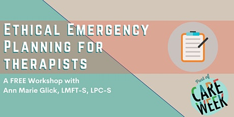 Ethical Emergency Planning for Therapists tickets