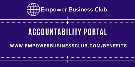 Accountability Portal - Support With Your Internet Based Business tickets