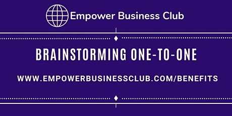 Brainstorming One-to-One - Support With Your Internet Based Business tickets