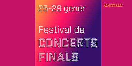 Festival Concerts finals ESMUC. Daniel Vidal. Piano. 27/01/2021. 16.30 h. entradas