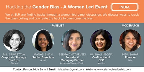 Hacking the Gender Bias: A Women Led Event (SLP India) tickets