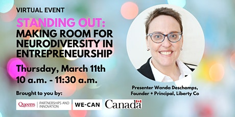 Standing Out: Making Room for Neurodiversity in Entrepreneurship tickets