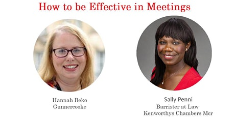 Thursday Lunch and Learn - How to be Effective in Meetings with Hannah Beko tickets